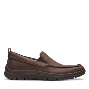 Clarks Mens Tunsil Way Brown Shoes